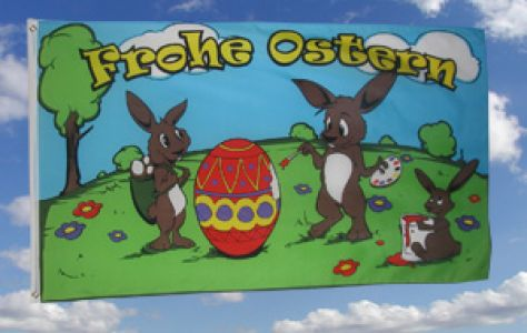 Frohe Ostern Fahne / Flagge 90x150 Nr. 4