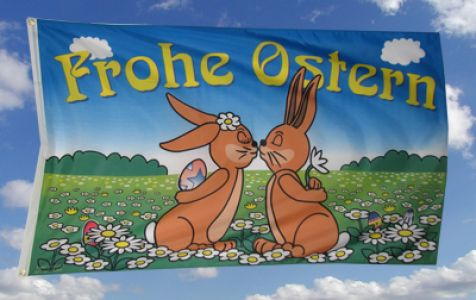 Frohe Ostern Fahne / Flagge 90x150 Nr. 3