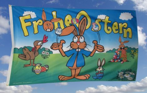 Frohe Ostern Fahne / Flagge 90x150 Nr. 5
