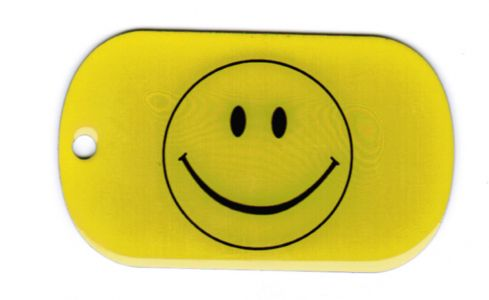 Smiley Dog Tag 3x5 cm