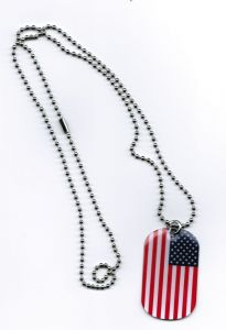 USA Dog Tag 3x5 cm