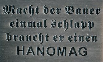 Hanomag Pin Spruch 30x20 mm