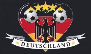 deutschland fahne mit herz 90x150 cm fahnen und flaggen shop fahnen. Black Bedroom Furniture Sets. Home Design Ideas