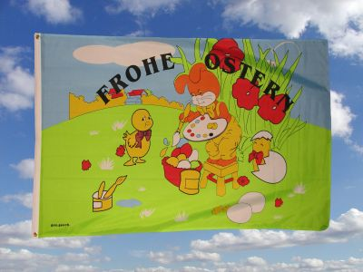 Frohe Ostern Fahne / Flagge 90x150cm Nr. 1