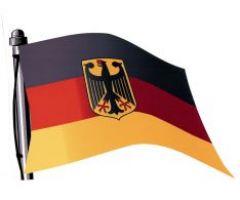 fahnen aufkleber deutschland mit adler wehende fahne. Black Bedroom Furniture Sets. Home Design Ideas