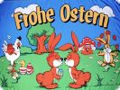 Frohe Ostern Fahne / Flagge 90 x 150cm Nr. 6