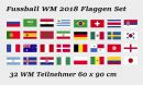 Buy national flags like Fussball WM 2018 Fahnen Set 32 teilig 60 x 90 cm in our onlineshop!