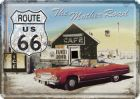 Route 66-The Mother Road Blechpostkarte 10 x 14 cm