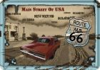 Route 66-Main Street Of USA Blechpostkarte 10 x 14 cm
